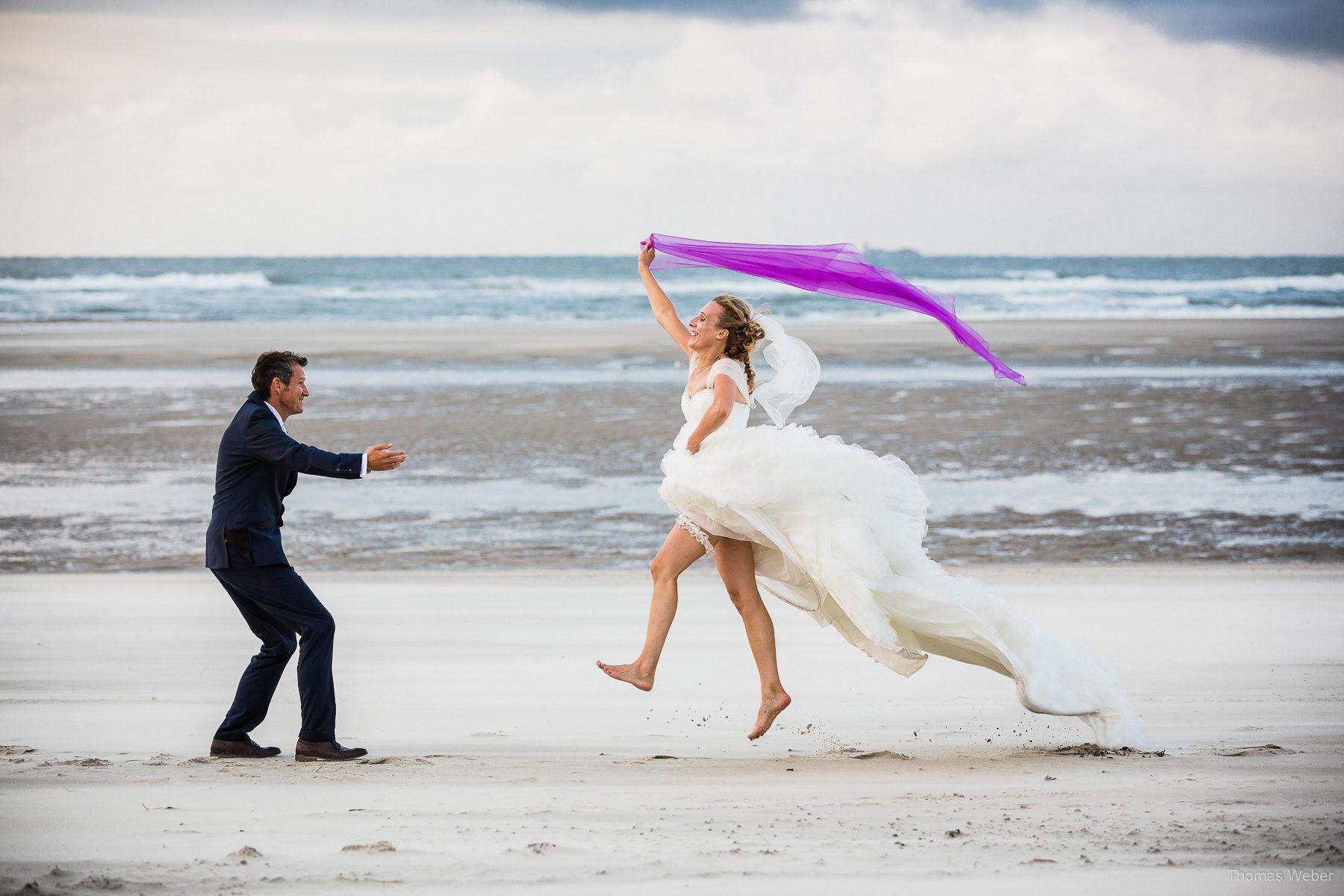 Hochzeitsfotos auf Wangerooge, Hochzeitsfotograf Ostfriesland