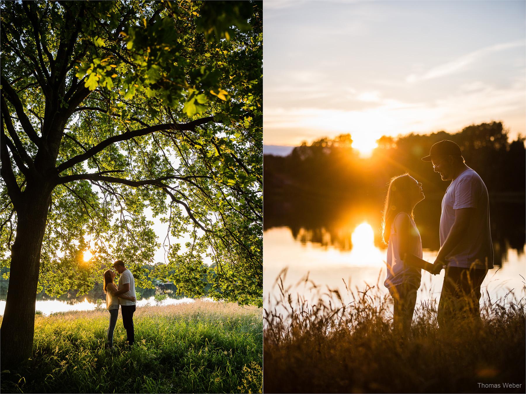 Paarfotos am See in Ostfriesland
