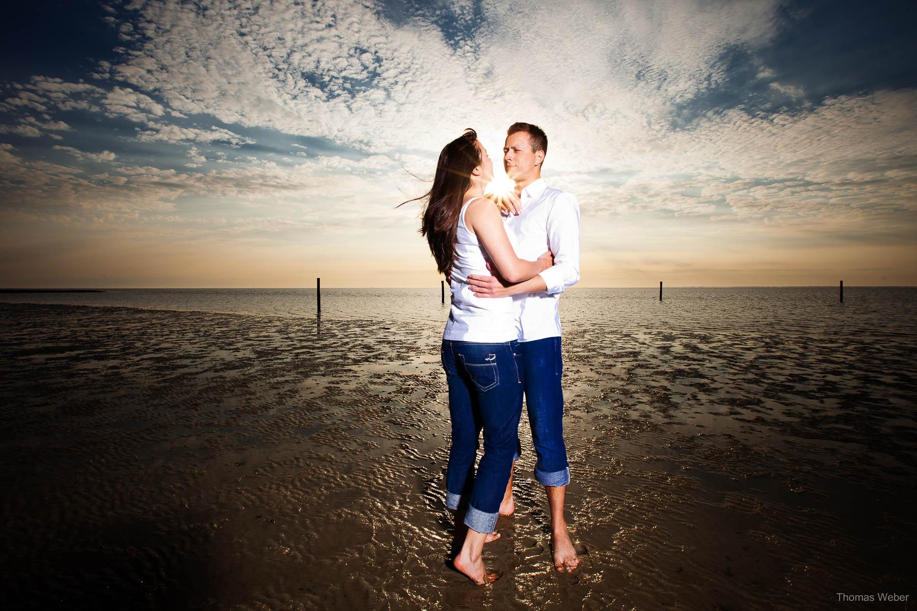 Hochzeitsfotograf Ostfriesland für schöne Hochzeitsfotos auf der Nordseeinsel Baltrum, Heiraten auf Baltrum