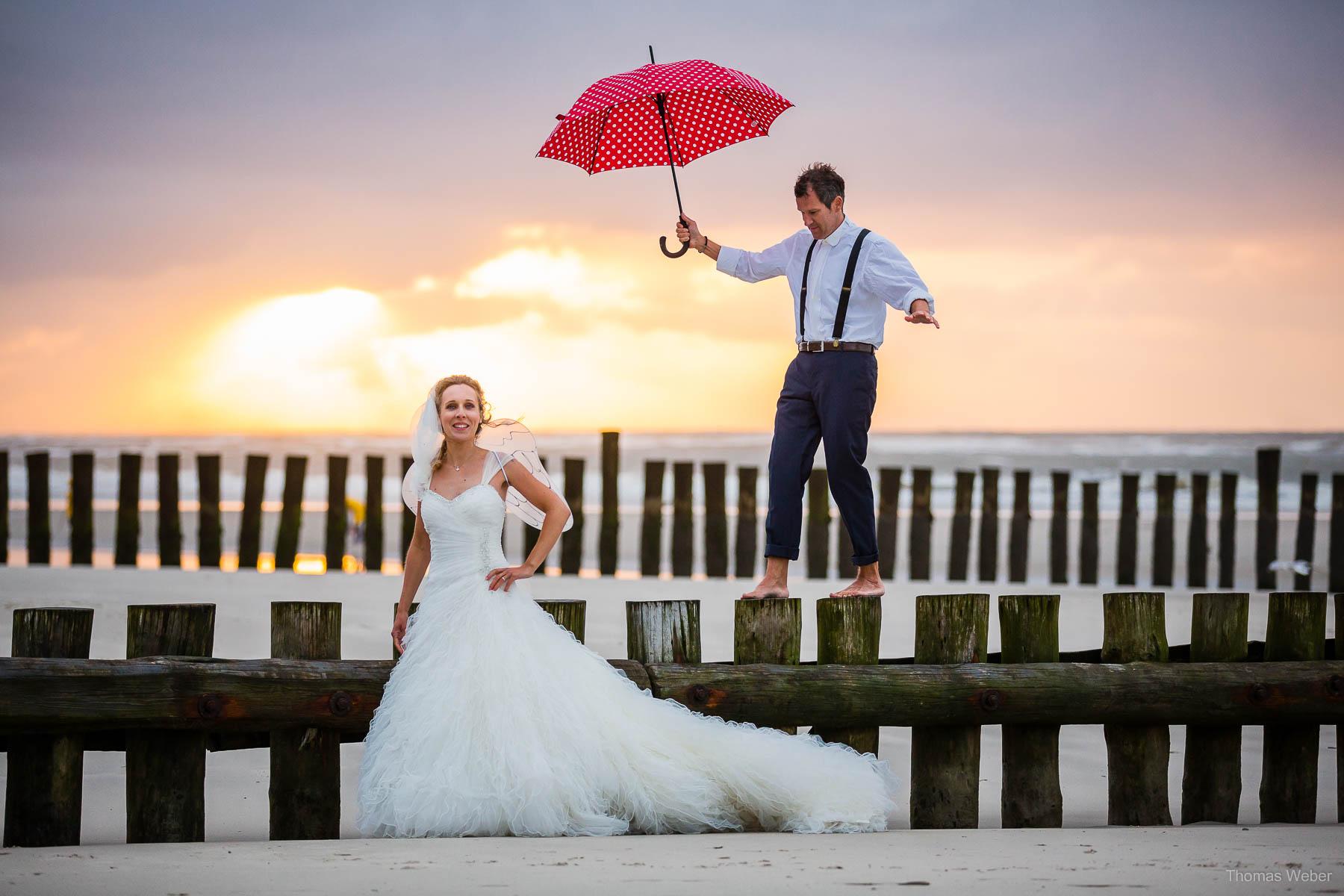 Hochzeitsfotograf in Ostfriesland für schöne Hochzeitsfotos auf den Inseln der Nordsee
