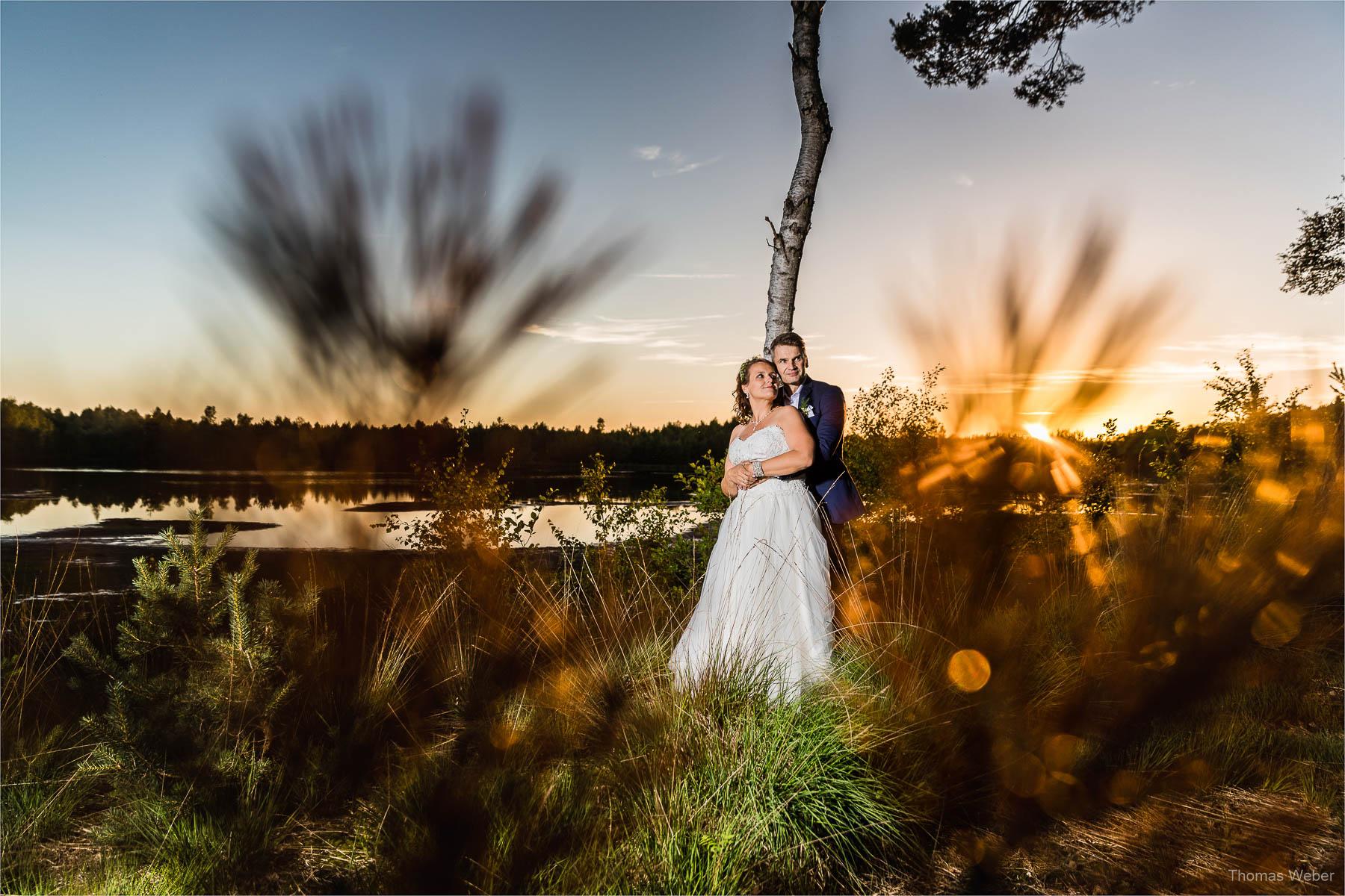 Hochzeitsfotos in der Natur, Hochzeitsfotograf Ostfriesland